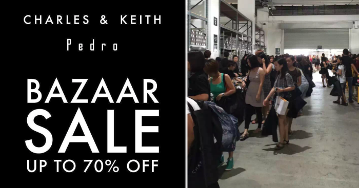 3f44501a547 Charles   Keith to run massive bazaar sale at their warehouse from 14 – 17  Mar 2019. Enjoy up to 70% off Charles   Keith   Pedro shoes.