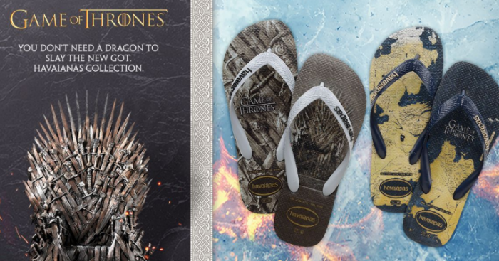 3a308a74a Havaianas  Game of Thrones  Sandals will be available in Singapore from 29  Mar 2019