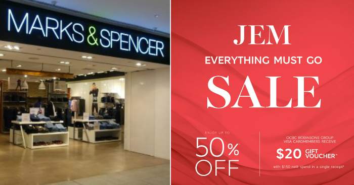 788969d9a15102 Marks & Spencer to close JEM's outlet, runs clearance sale offering up to 50%  off from 25 Apr 2019 | MoneyDigest.sg