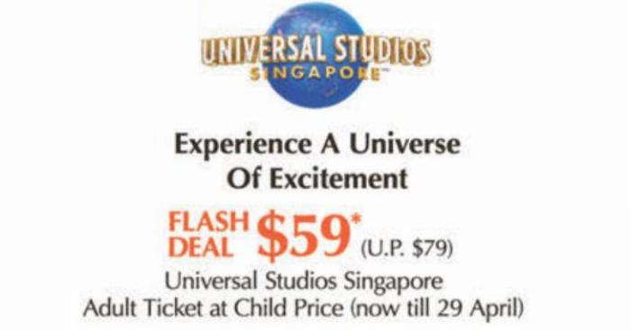 4 DAYS ONLY: Buy Universal Studios Singapore Adult Dated One-Day