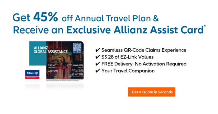 Receive An Exclusive Allianz Assist Card Worth S$28 EZ-link Value with a Purchase of Annual Travel Insurance Plan