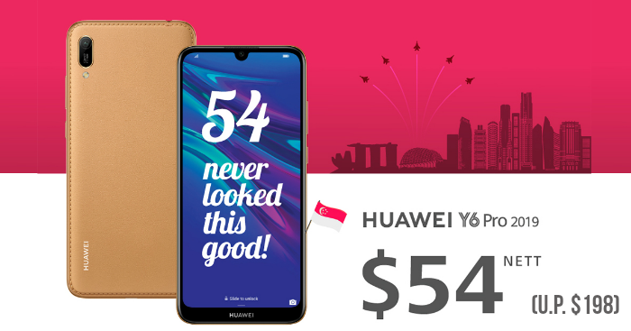 Huawei will be selling their Y6 Pro Smartphone for $54 (U P  $198