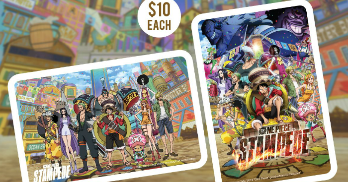 New One Piece Stampede ez-link cards available from 17 Aug