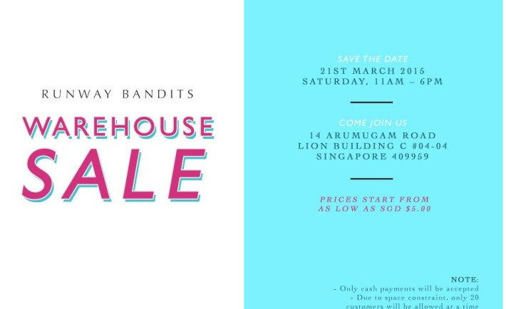 Runway Bandits Warehouse Sale