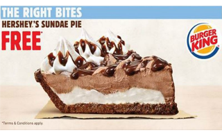 Burger King Hershey Sundae Pie