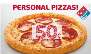 Dominos 50c pizza