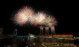 Fireworks display on NDP