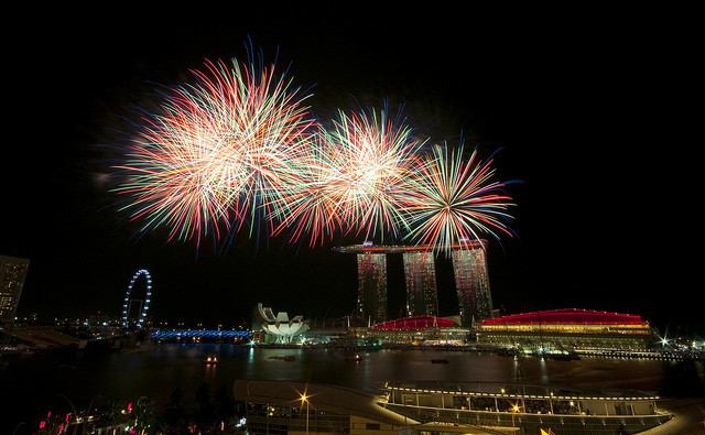 Fireworks display on NDP