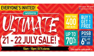 Ultimate Watsons Sale 21 22 July 2015