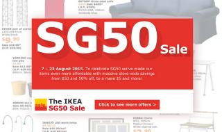 IKEA SG50 Sale