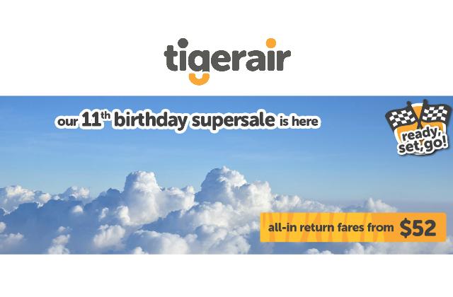 Tigerair 52 Sale