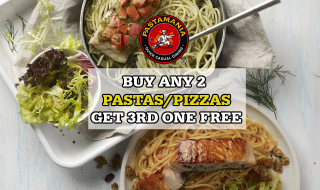 PastaMania Buy 2 Get 1 Free