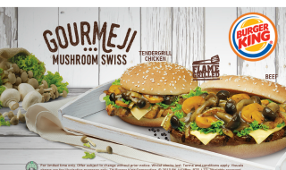 Burger King Gourmeji Swiss Burger