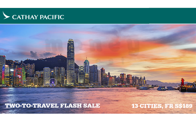 CATHAY PACIFIC TWO TO TRAVEL