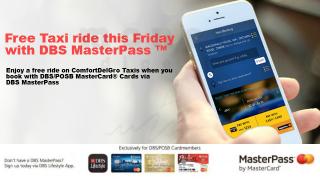 DBS POSB MasterPass Free Taxi Ride