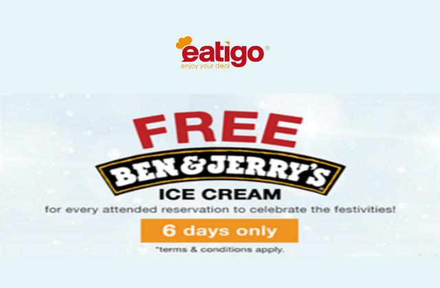 Eatigo Ben Jerry Ice Cream