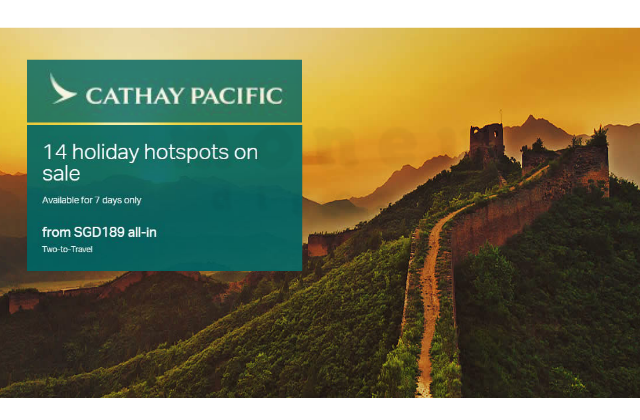 Cathay Pacific Two To Go China