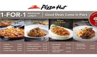 Pizza Hut 1 for 1 Featured Jan 16