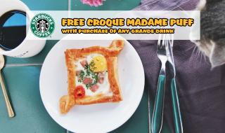 Starbucks Croque Madame Puff
