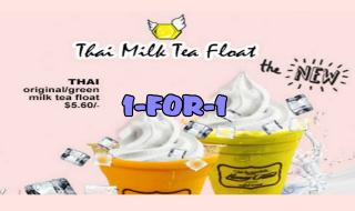 HoneyCreme 1for1 Thai Milk Tea Float