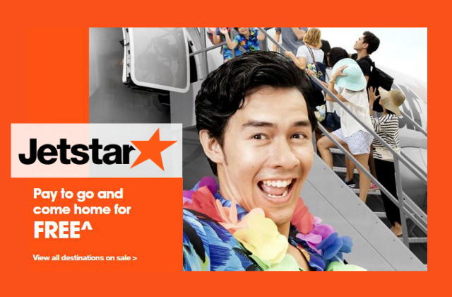 Jetstar Pay to go return for free 15 Feb