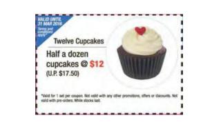 Twelve Cupcakes Coupon