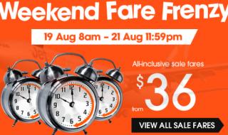 Jetstar Weekend Fare Frenzy