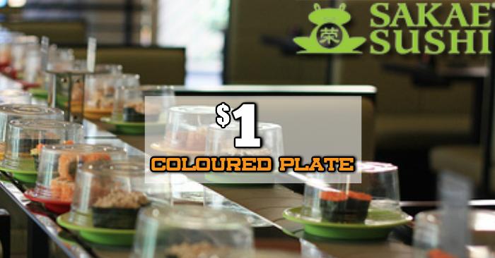 Sakae Sushi 1 Coloured Plate