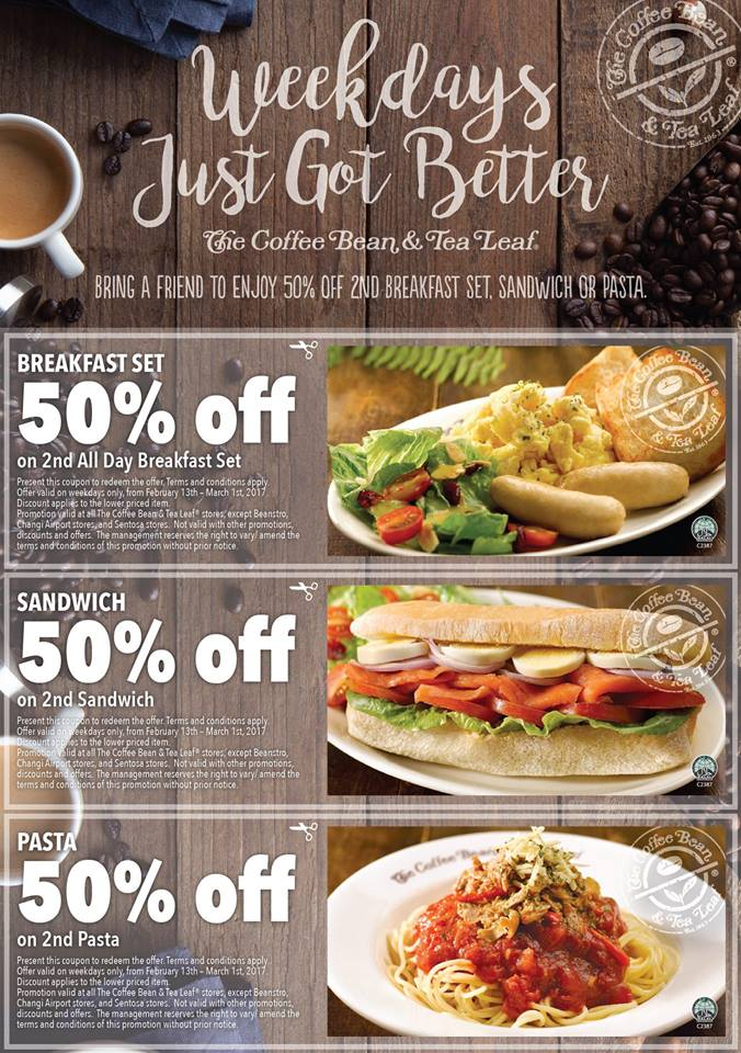 The Coffee Bean & Tea Leaf® launches coupon deals. Enjoy ...
