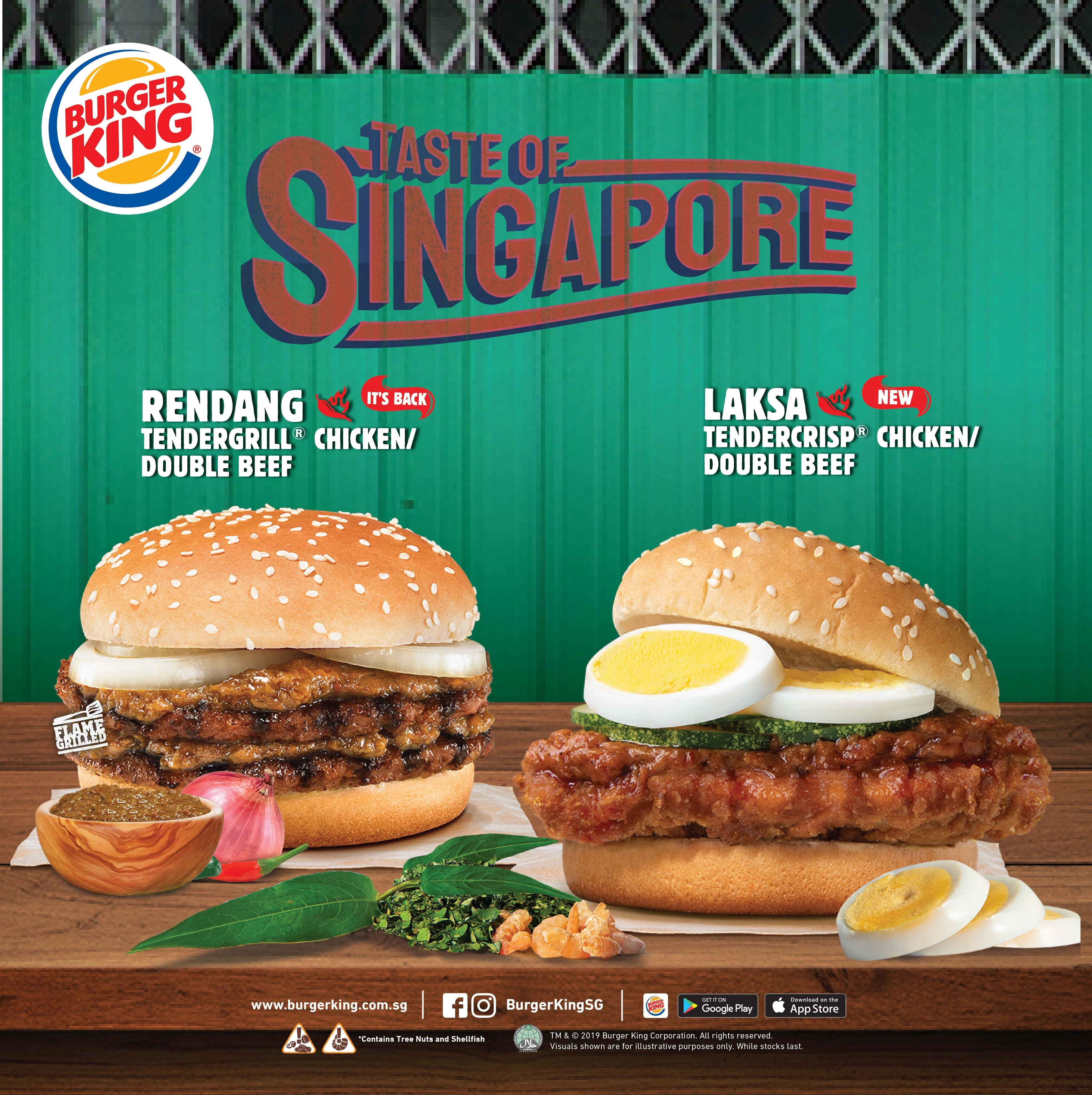 Savour the delicious taste of Singapore with the Laksa and Rendang burgers at BURGER KING®