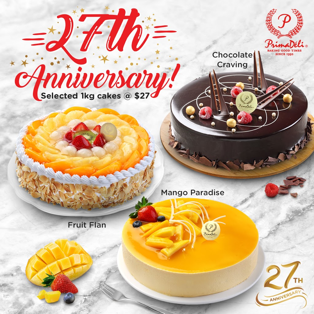 PrimaDeli's $27 Cakes Promotion now includes Chocolate Craving, Mango Paradise and Fruit Flan. (U.P. $43.80) Valid till 17 Oct 19