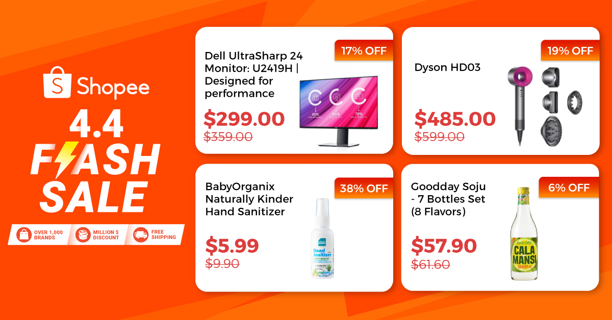 Get A Dyson Hair Dryer At 485 U P 599 Mi Air Purifier 2c At 125 U P 169 During The Shopee 4 4 Flash Sale Moneydigest Sg