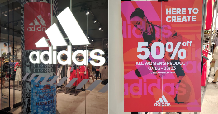 adidas offering 50% off all Women's