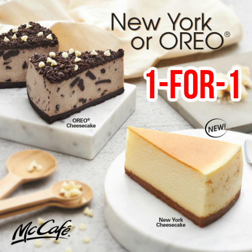 McDonald's is offering 1-for-1 OREO or New York Cheesecake from 16 to 30 Jun 20