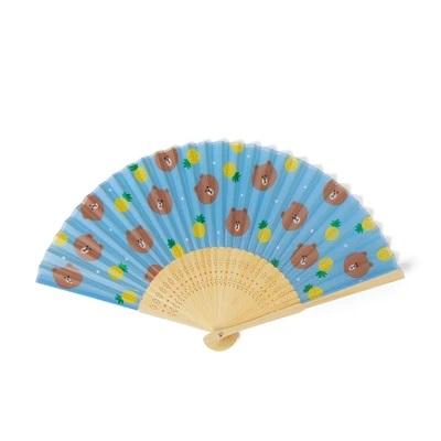 Brown Folding Fan
