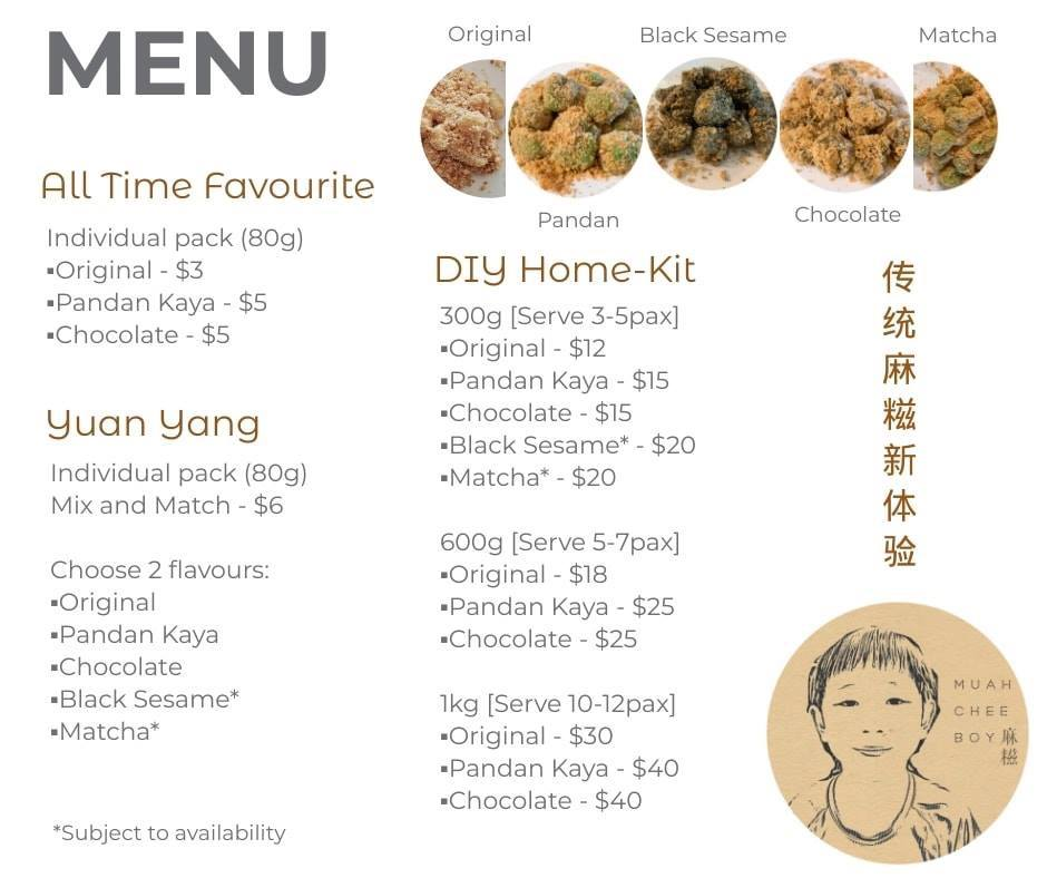 Muah Chee Boy full menu