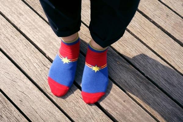 Carol Captain Marvel socks