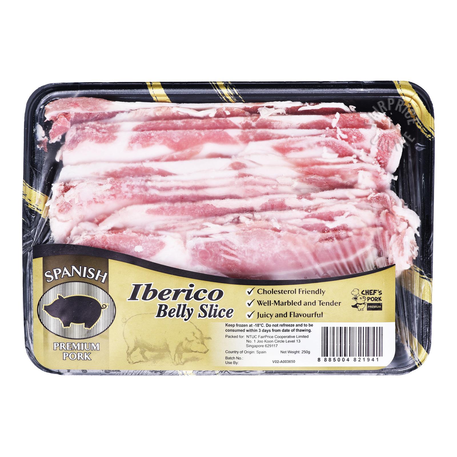Chef's Pork Premium Frozen Iberico Belly Slice