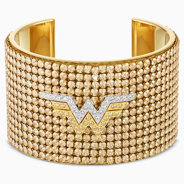 FIT WONDER WOMAN CUFF, GOLD TONE, MIXED METAL FINISH
