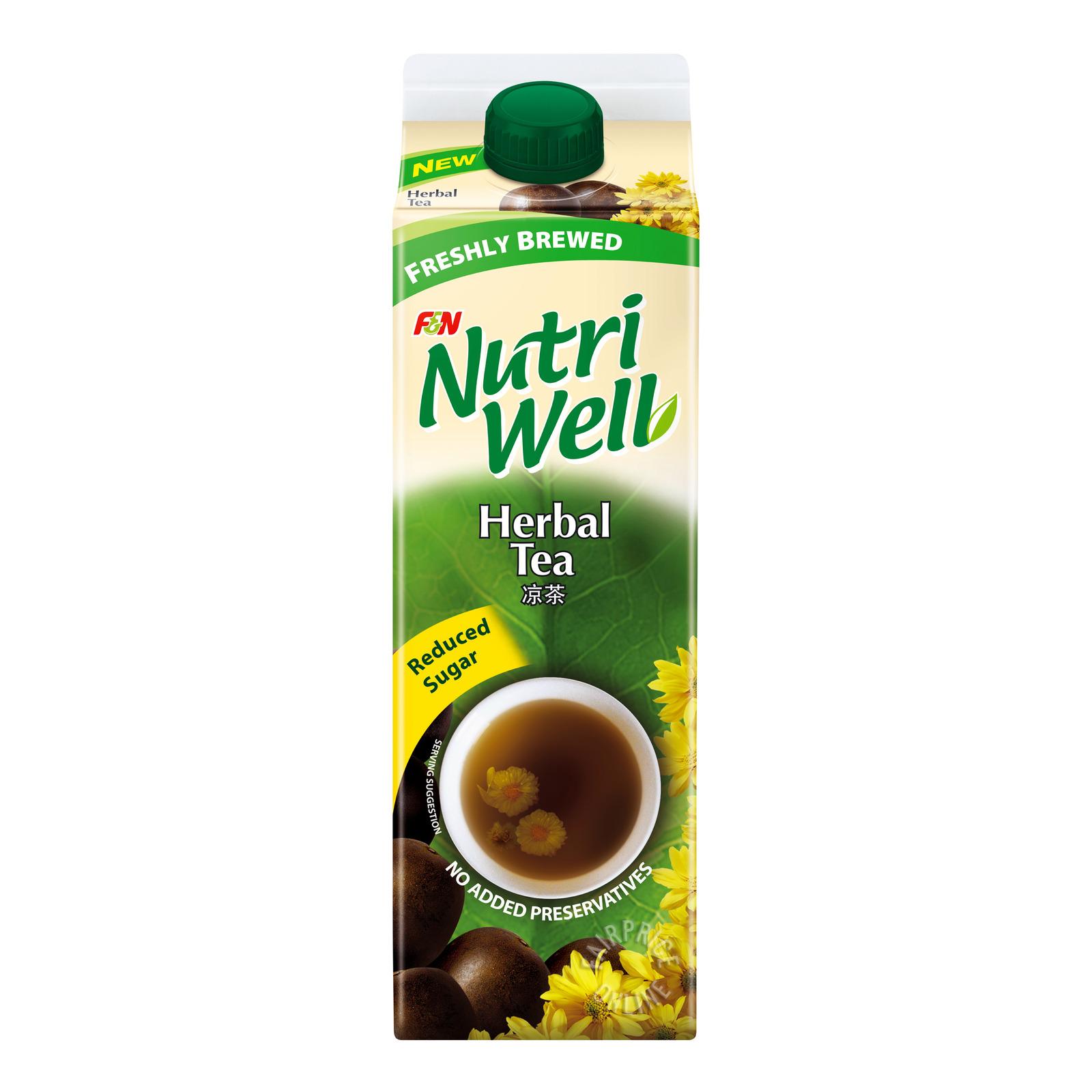 F&N NutriWell Reduced Sugar Drink - Herbal Tea
