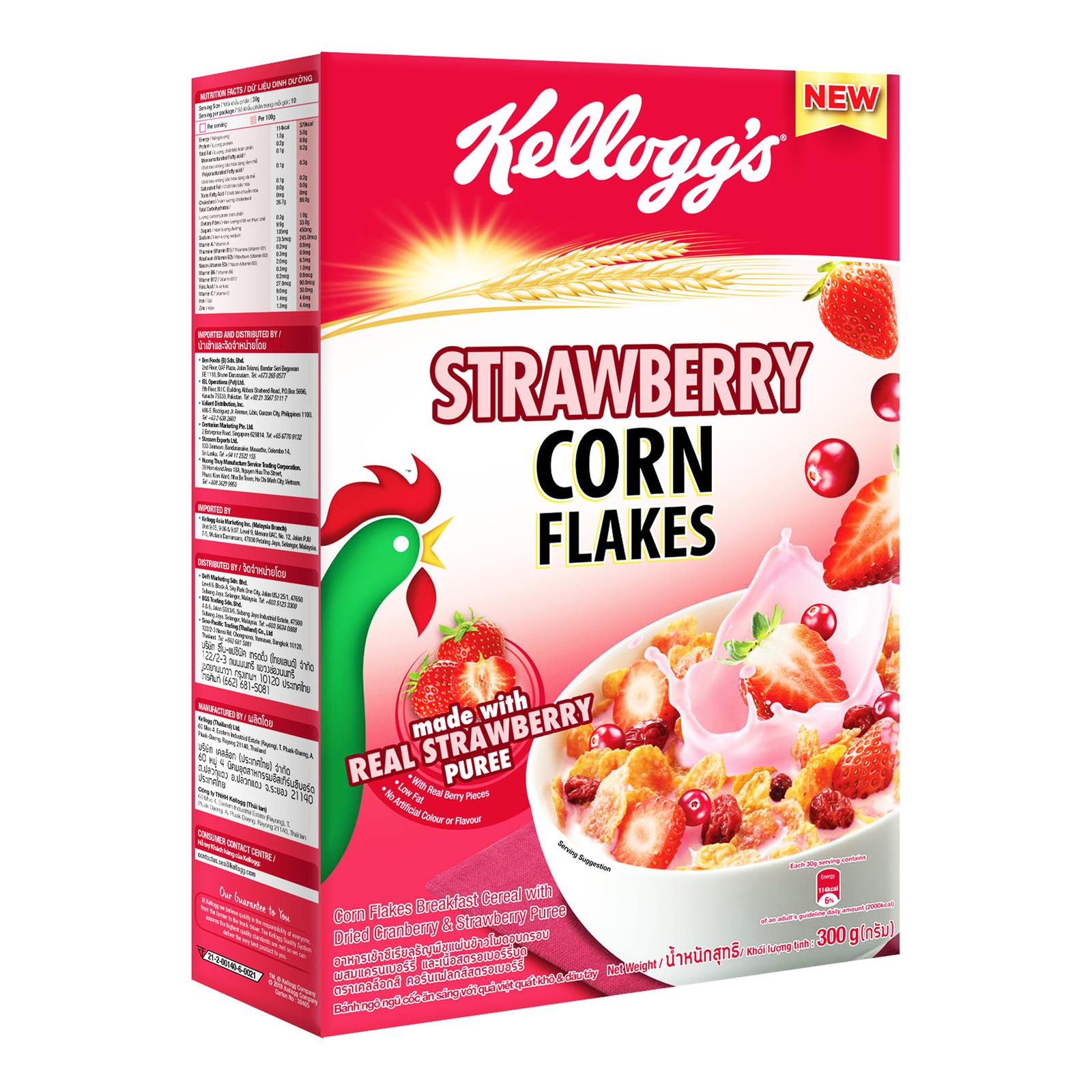 Kellogg's Cereal - Cornflakes (Strawberry)