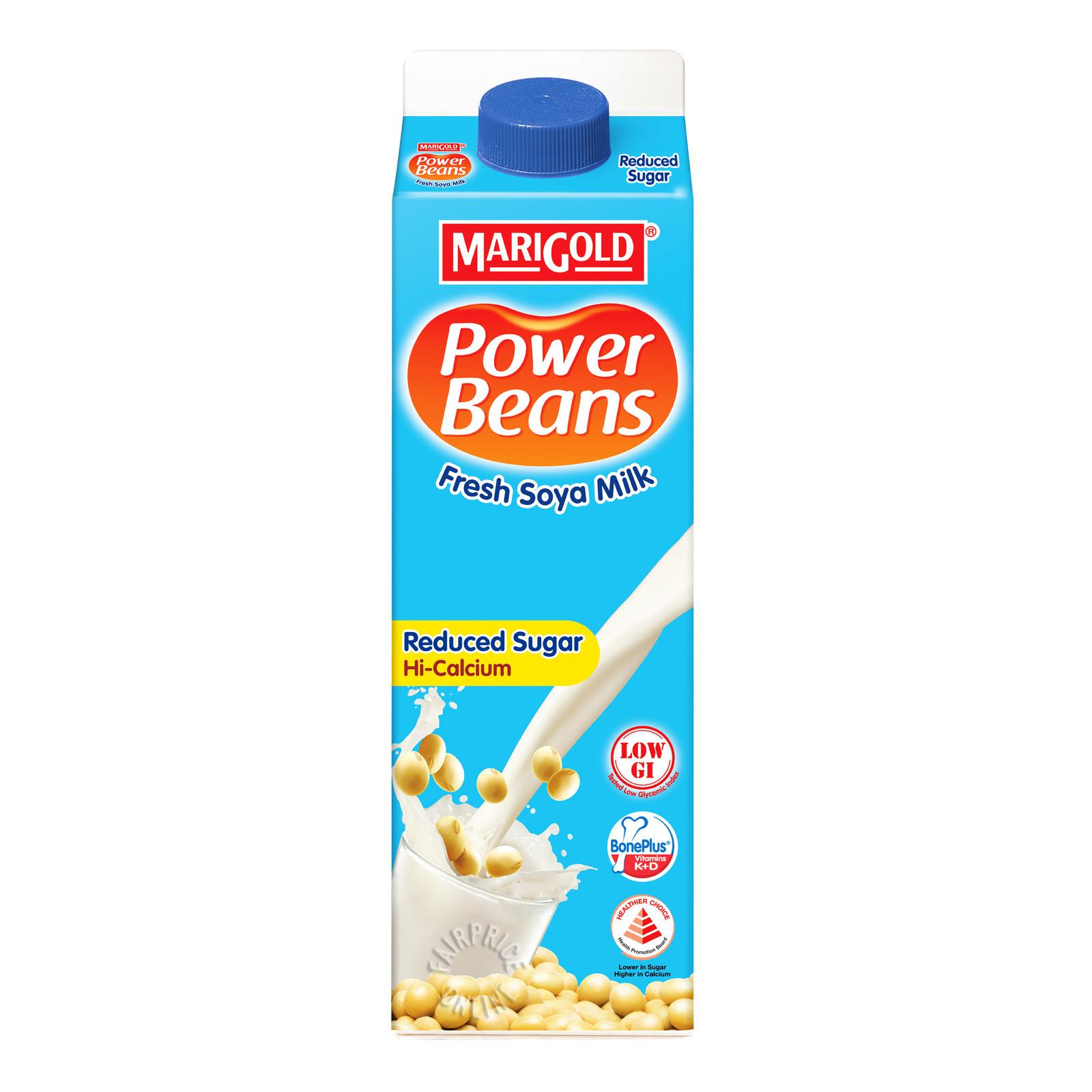 Marigold Power Beans Fresh Soya Milk - Reduced Sugar