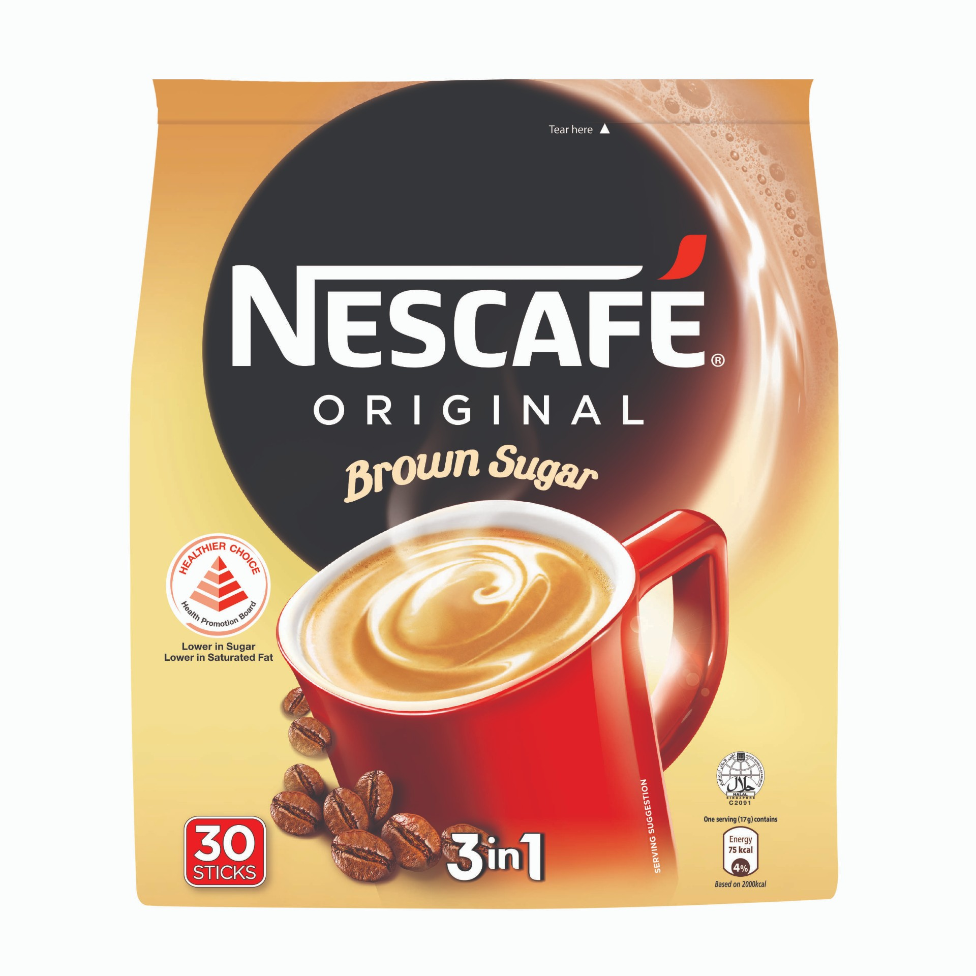 Nescafe 3in1 Original Brown Sugar Coffee
