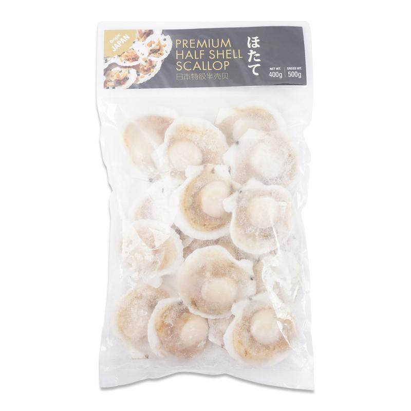 Premium Half Shell Scallop 400g