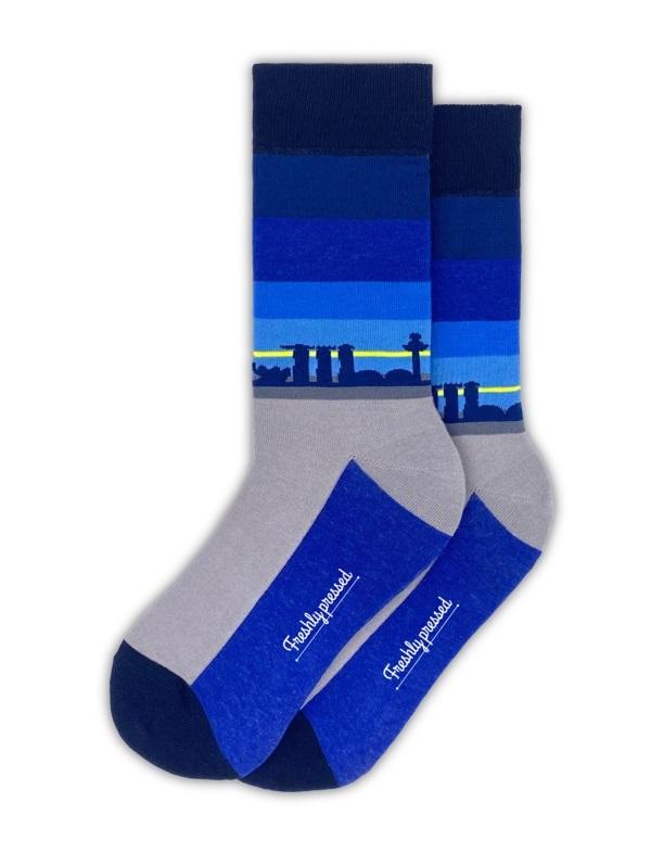 Singapore Skyline Socks