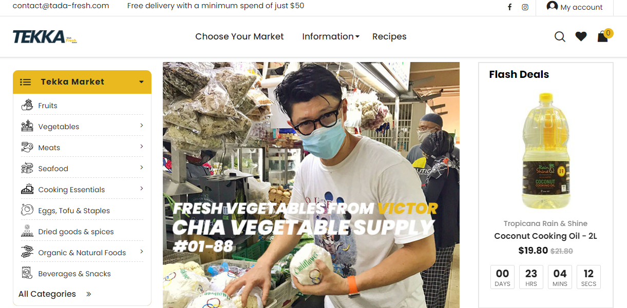 TADA Fresh Market Website