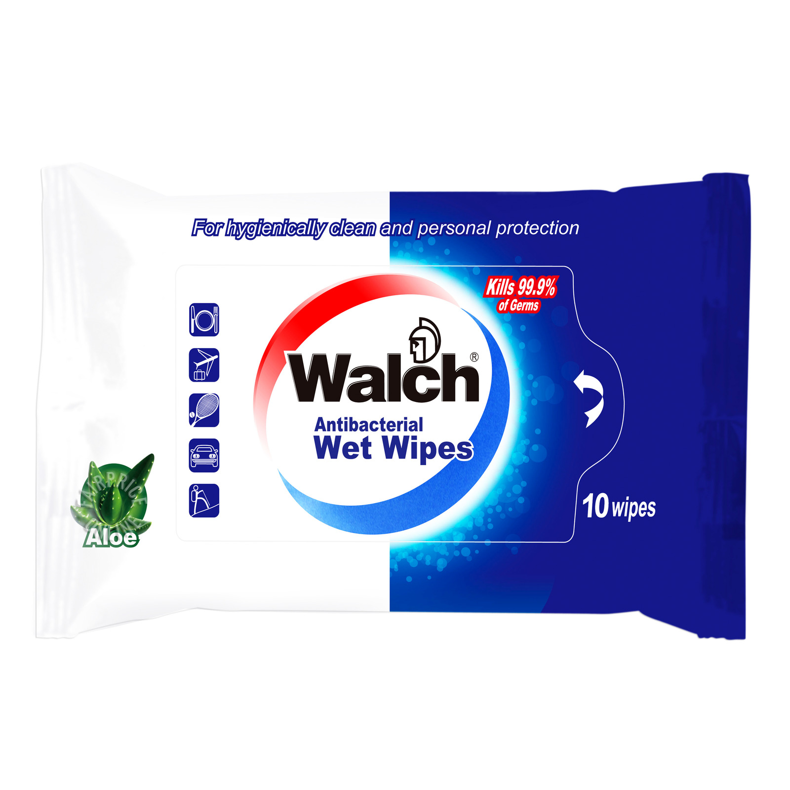 Walch Antibacterial Wet Wipes