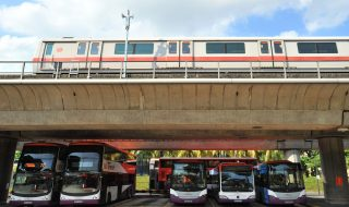Bus and MRT train