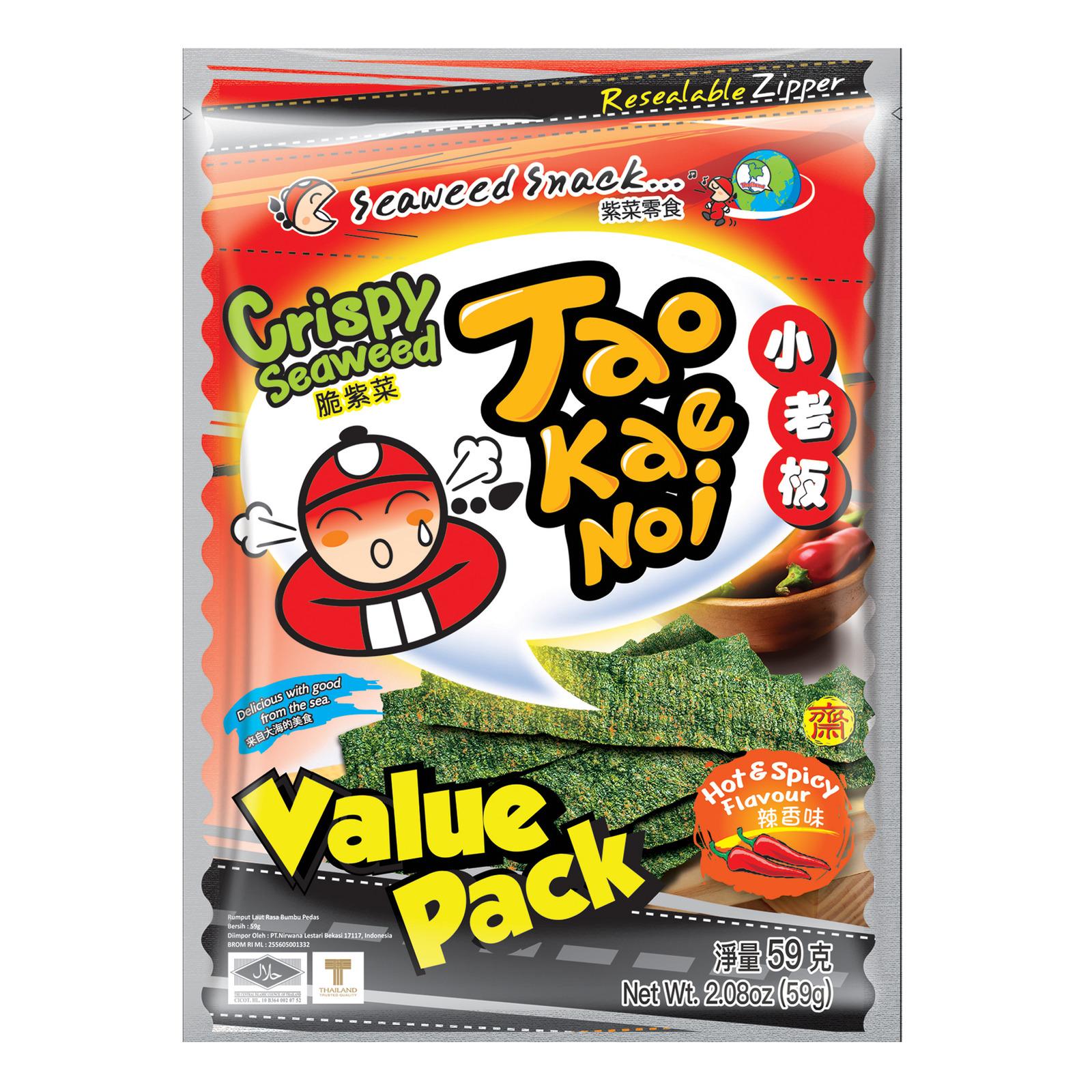 Crispy Seaweed Hot & Spicy 59g TAO KAE NOI