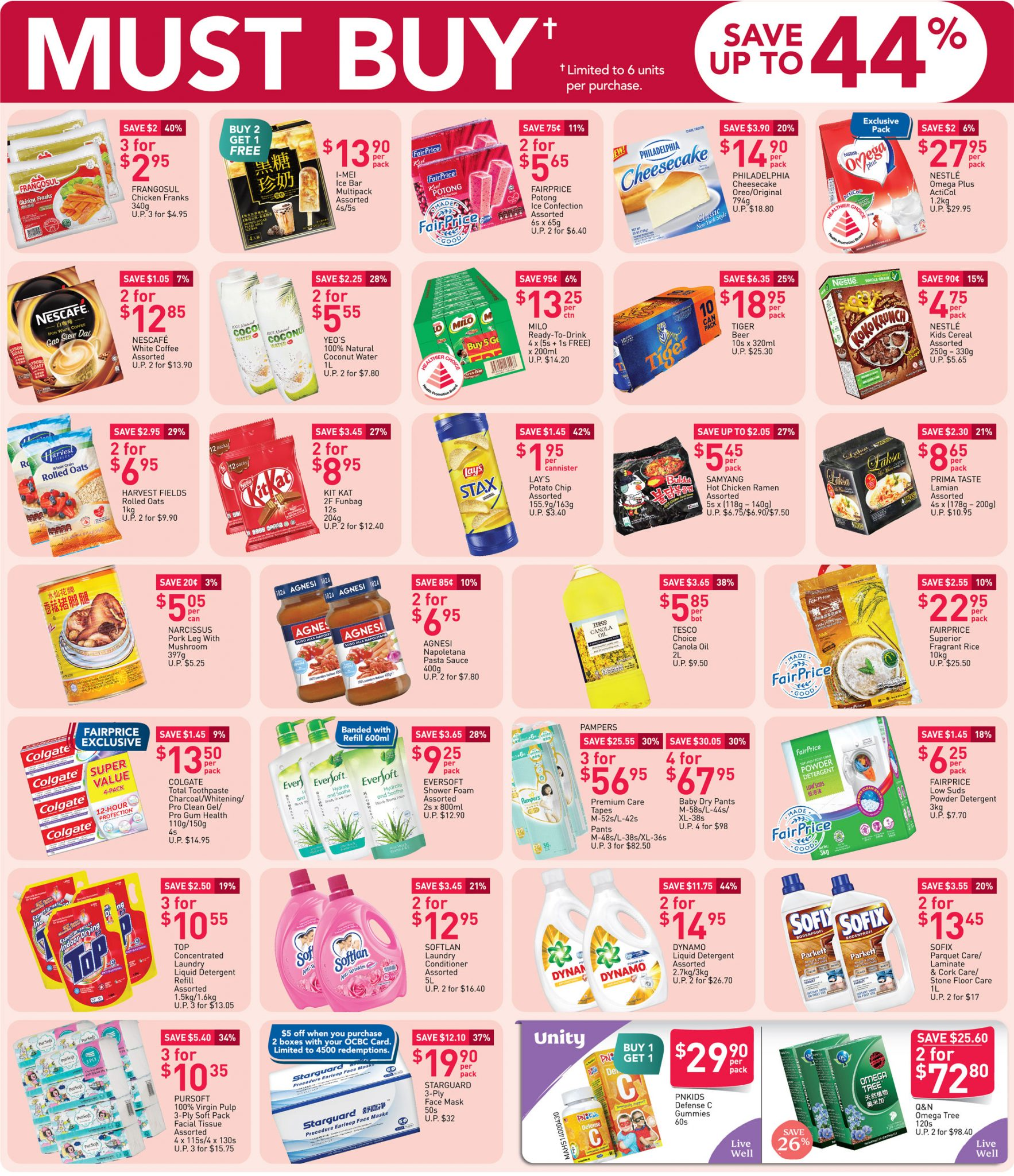 FairPrice must-buy items from now till 30 September 2020